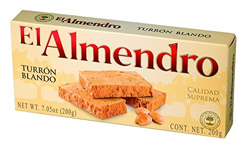 El Almendro Turron Blondo Traditional Soft Spanish Torrone With Roasted Almonds and Honey 7.05oz.