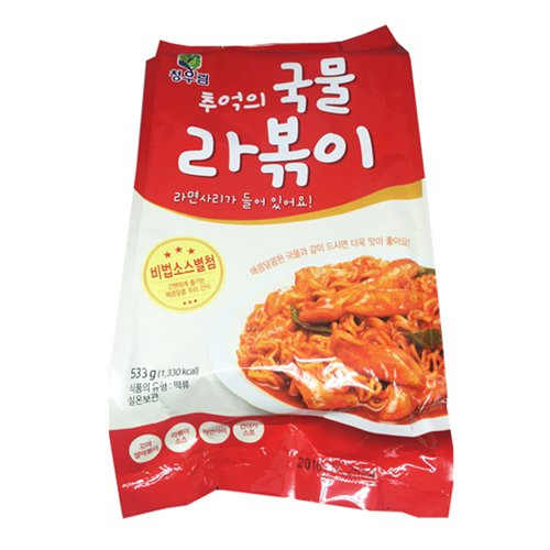 Gangwon, Rabokki, Spicy rice cake with Ramen Noodles