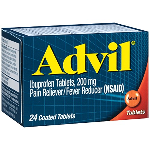 Advil Pain Reliever/Fever Reducer, 200mg Ibuprofen (24-Count Coated Tablets)