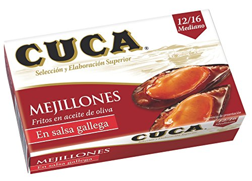 """ Cuca"" Mussels (Mejillones) in Galician Sauce 4 Oz (Canned)"