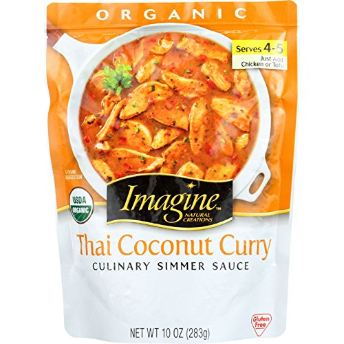Imagine Culinary Simmer Sauce, Thai Coconut Curry, 10 Ounce (Packaging May Vary)
