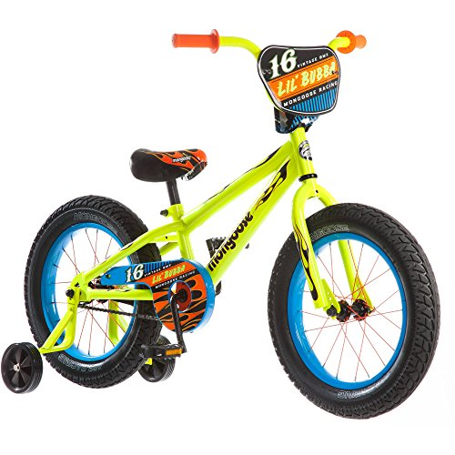 "16"" Mongoose Lil Bubba Boys' Fat Tire Bike, Neon Yellow"