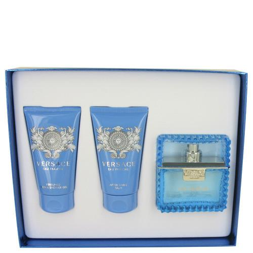 Versace Man by Versace Gift Set -- 1.7 oz Eau De Toilette Spray (Eau Fraiche) + 1.7 oz Shower Gel + 1.7 oz After Shave Balm (Men)