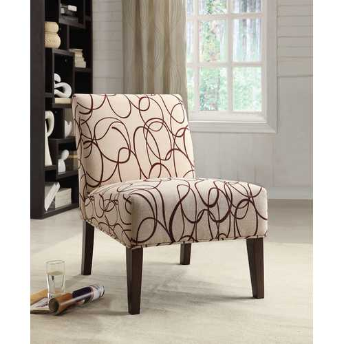 Acme Aberly Accent Chair, Fabric & Espresso