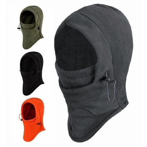 2017 Fashion 6 in 1 Thermal Fleece Balaclava Outdoor Ski Masks Bike Cycling Beanies Winter Mask Hats