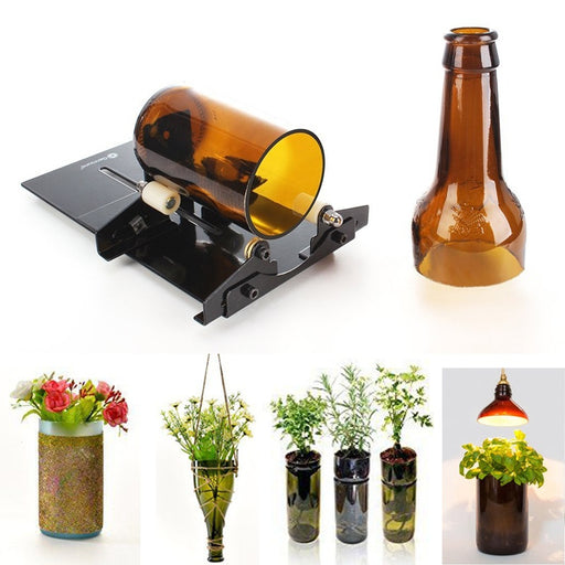Glass Bottle Cutter Black Stainless Steel Wine Bottle Glass Cutter Machine Cutting Tool QL (Size: Type 2)