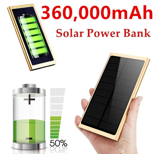 Waterproof Outdoor Emergency Camping LED Portable Solar Charger