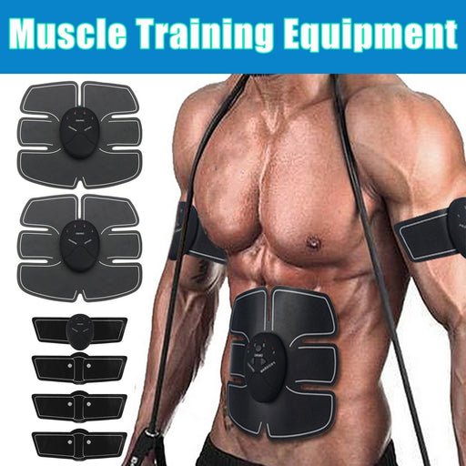 EMS Muscle Training Gear Abs Abdominal Toning Training Patch Body Exercise Shape Fit Fitness Home Use Kits