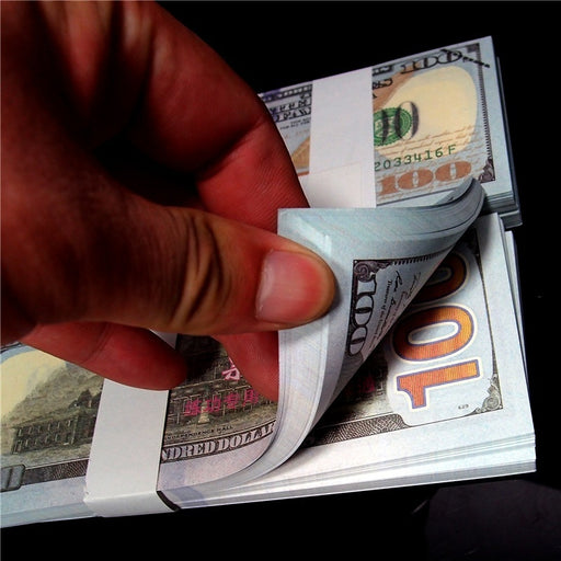 100pcs/set Simulation Fake Joke Tease 100 Dollars Practice Paper Money Replicas