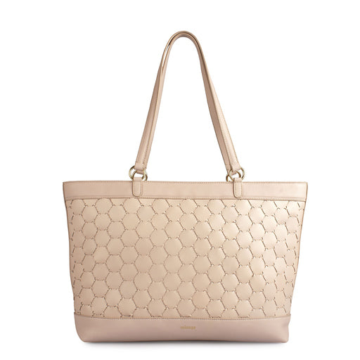 Anqa Leather Tote Bag | Pink