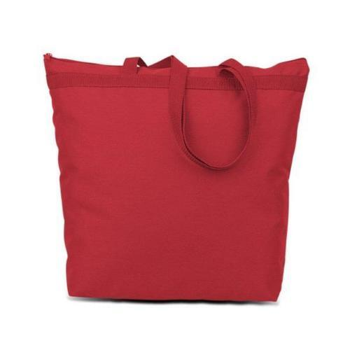 600 Denier Polyester Large Tote - Red
