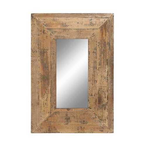 Looking Glass Style Mirror With Old Look Rectangle Frame
