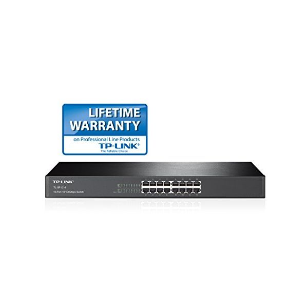 Cabinet Switch TP-LINK TL-SF1016 16P Gigabit 10/100M 1 U 19""