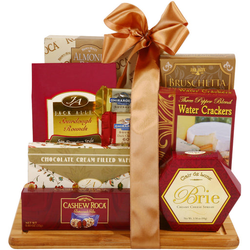 Alder Creek Burgundy & Gold Cutting Board Gift Set