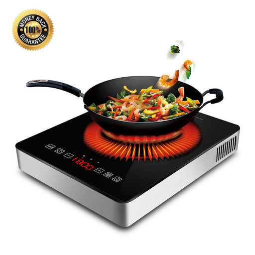 1800W Portable Induction Cooktop Countertop Burner Cooktop with Timer, Locker and LED Display