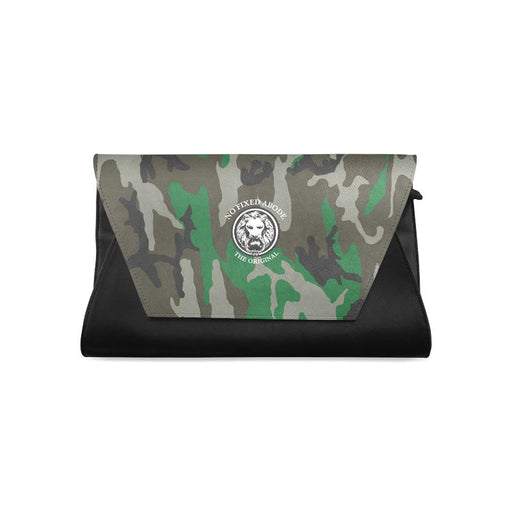 NFA The Original Green Camo & Black Womens Clutch Bag
