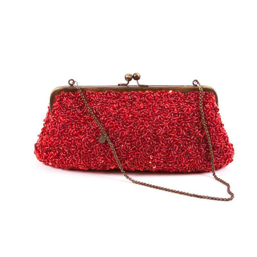 Red Evening Bag Handcrafted