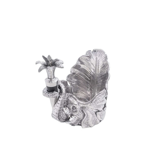 Elephant Wine Coaster and Stopper Set