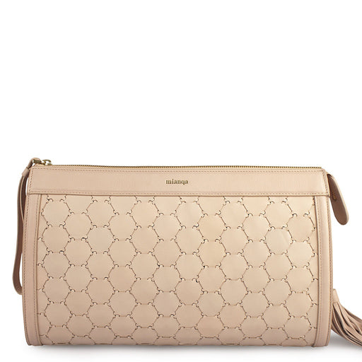 Anqa Leather Clutch | Dust Pink