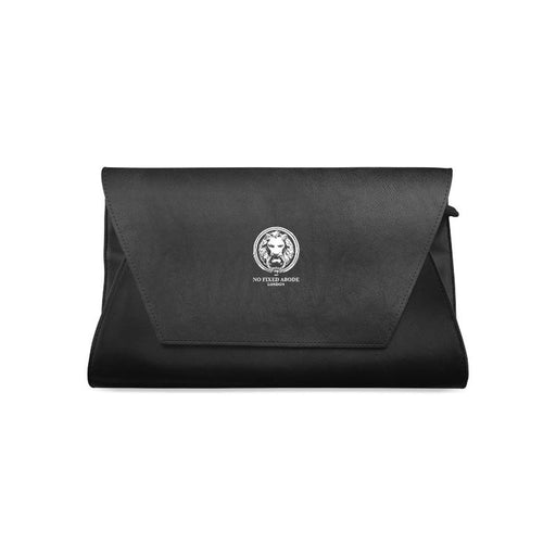 Womens No Fixed Abode Lion Black Clutch Bag