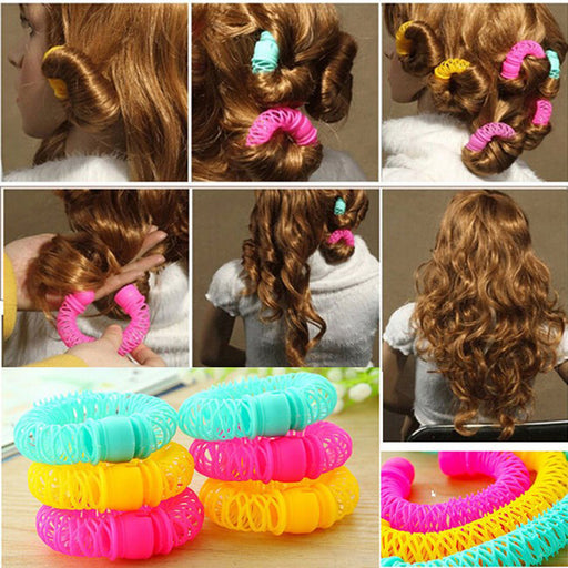 8 Pcs New Magic Donuts Hair Styling Roller Hairdress Magic Bendy Curler Spiral Curls DIY Tool For Woman Hair Accessories
