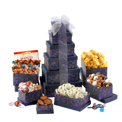 Broadway Basketeers Soaring Sapphire Gift Tower