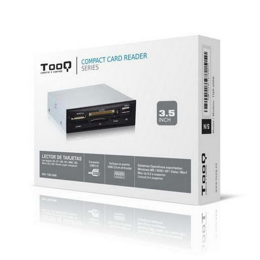 "Internal Card Reader TooQ TQR-208B 3½"" USB 2.0 Micro SD/M2 Silver Black"