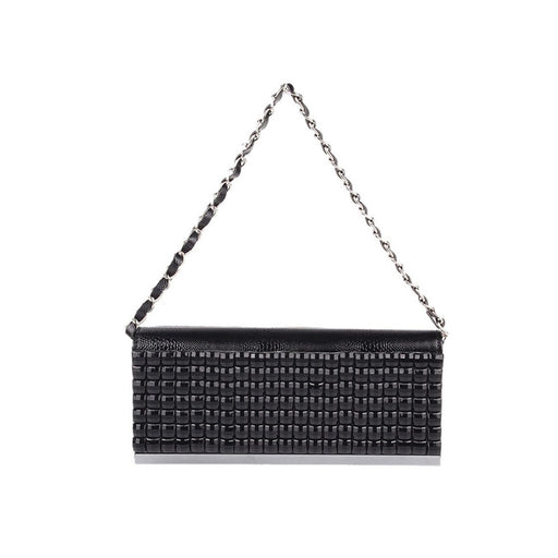 Mechaly Women's Sparkly Black Clutch Handbag