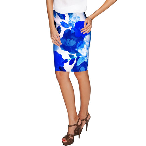 Blue Blood Carol Floral Fashion Stretch Pencil Skirt - Women