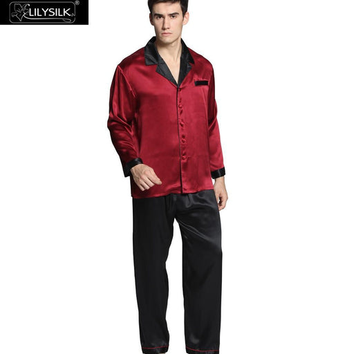 Men's Sleepwear Silk Pajamas Sets Sexy Summer Nightwear