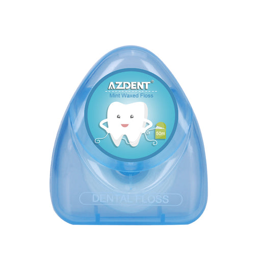 AZDENT 50 Meter Mint Flavor Dental Flosser Waxed Tooth Floss Flossing Teeth Oral Clean Gum Care Tooth Clean Toothpick