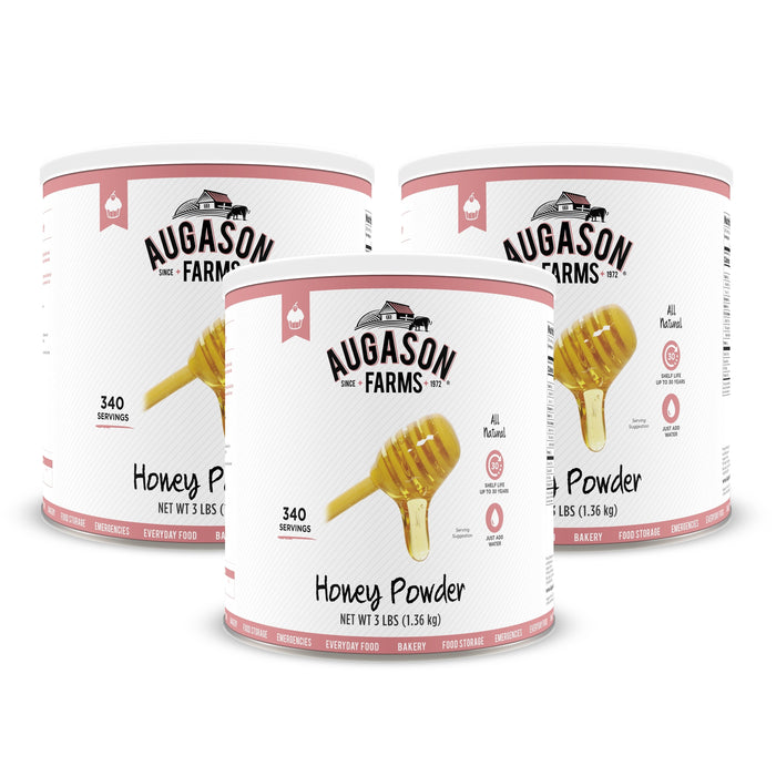 Augason Farms Honey Powder 48 oz #10 Can - White