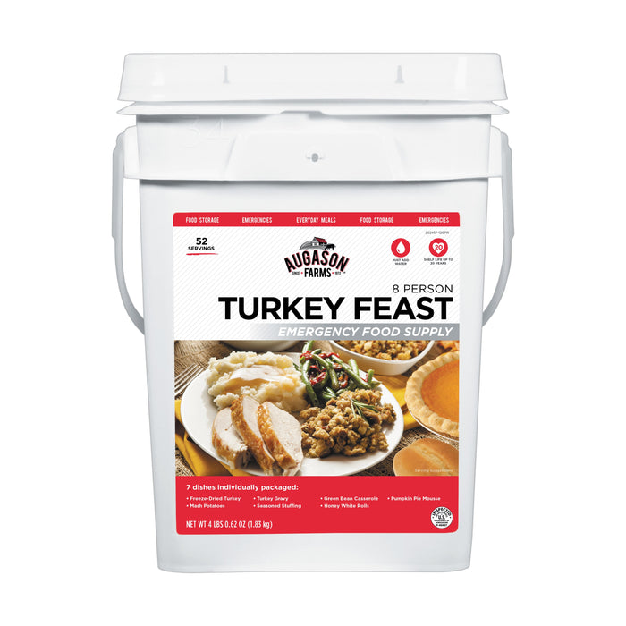 Augason Farms Turkey Feast 8-person Emergency Food Supply