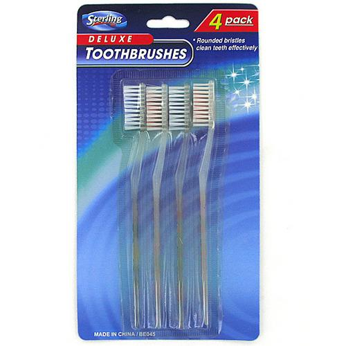4 Pack toothbrushes ( Case of 96 )