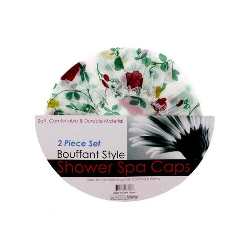 Bouffant Style Shower Spa Cap Set ( Case of 12 )