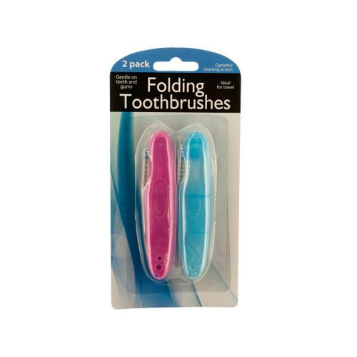 Folding Travel Toothbrushes ( Case of 72 )