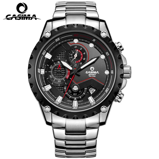 CASIMA 3D Chronograph Sport Watch Men Luminous Swimming Waterproof 10ATM Quartz-watch Army Wristwatch Mens Top Brand Man Watches