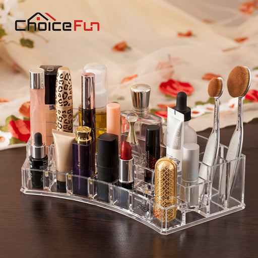 CHOICE FUN Luxury Sector Makeup Brush Holder Acrylic Lipstick Holder Nail Polish Holder Make Up Cosmetics Organizer SF-1066