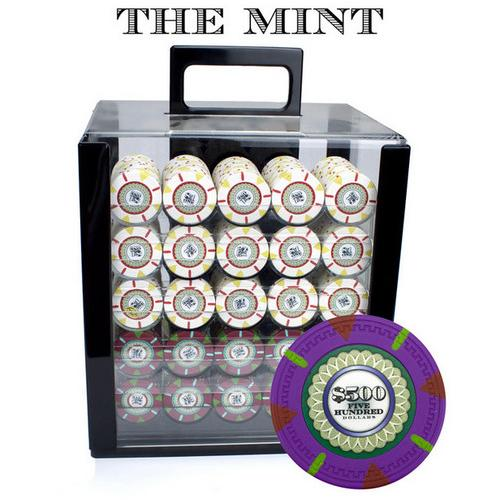 1000Ct Claysmith Gaming 'The Mint' Chip Set in Acrylic