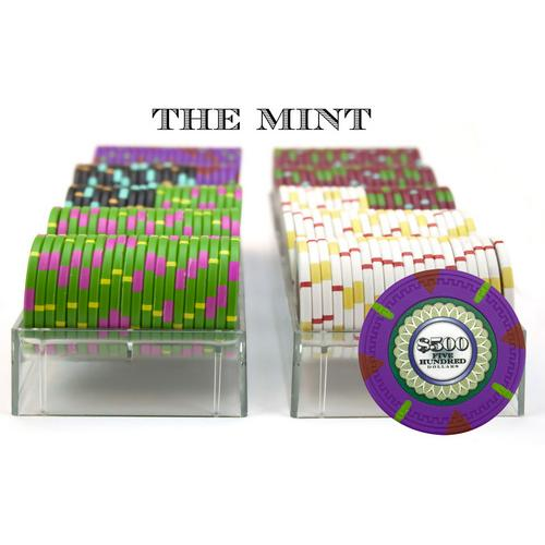 200Ct Custom Claysmith Gaming 'The Mint' Chip Set in Acrylic
