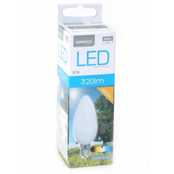 Candle LED Light Bulb Omega E14 4W 320 lm 4200 K Natural light