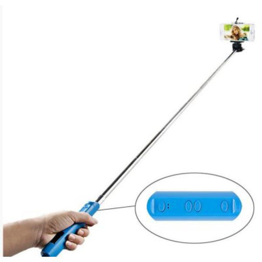 Extendible Bluetooth Selfie Stick TAMTAM TTSTICKPLA 23,5 - 110 cm Blue