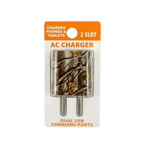 Camouflage Dual Port USB Wall Charger ( Case of 20 )
