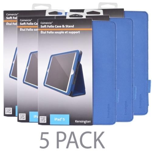 (5-Pack) Kensington K97017WW Comercio Soft Folio Case & Stand for iPad Air (Denim Blue)