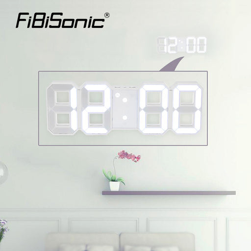 FiBiSonic LED Digital Alarm Clock 8888 the large wall clock saat home decor desktop clock Brightness Automatically Night snooze
