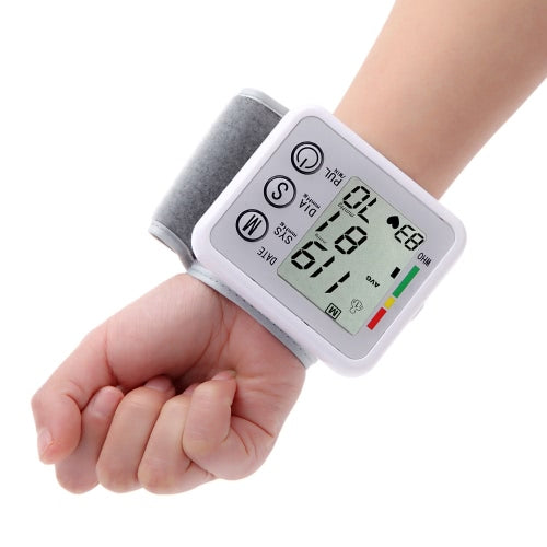 Digital LCD Portable Wrist Blood Pressure Meter
