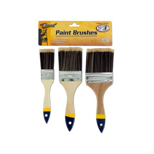 Paint Brush Set with Wood Handles ( Case of 40 )