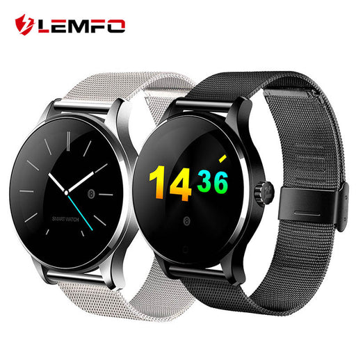 K88H Bluetooth Smart Watch MTK2502 Heart Rate Monitor Sync Phone Call Message Men Women Wrist Smartwatch