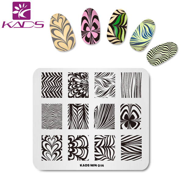KADS New Arrival MIN Series Stainless Steel Nail Art Stamping Stamp Template Beauty Stencil Nail Design Tools For Stamping Art