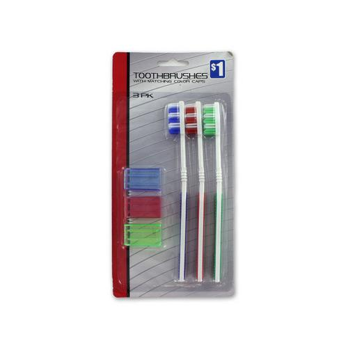3 Piece Toothbrushes (24 Piece Per Pdq) (pack of 24)